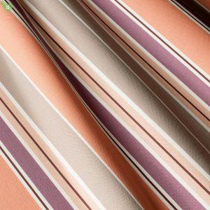 Декоративная ткань с узкими и широкими полосками бежевого и сиреневого цвета: Испания 400270v1, цена 640 грн. - новая 320 грн.