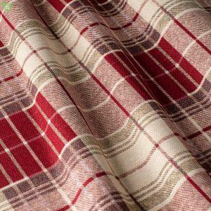 Декоративная ткань в мелкую бежевую и бордовую клетку: Испания, ширина 280, цена 640 грн. новая 320 грн.