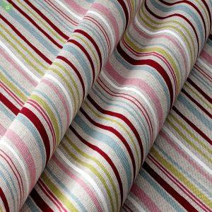 Декоративная ткань в тонкую разноцветную полоску на белом: Испания, ширина 280, цена 520 грн. - новая 220 грн.